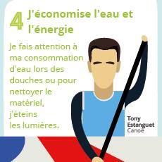 Affiche 4 , un geste éco-responsable