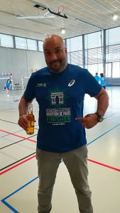Jean Christophe, tee-shirt finisher et bibine