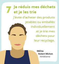 Affiche 7 , un geste éco-responsable