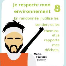 Affiche 8, un geste éco-responsable