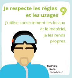 Affiche 9, un geste éco-responsable